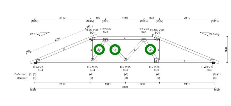 Truncated Girder Truss with vertical webs plus precut Turb-O-Webs.